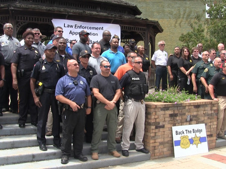Residents support local law enforcement at Back the Badge Rally