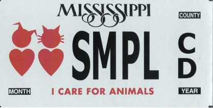 """County offers """"I Care for Animals"""" car tags"""