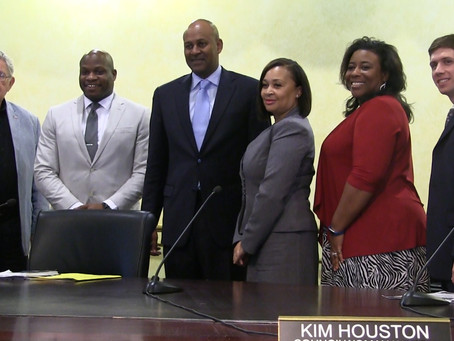 First day on the job: Mayor and new city council members meet for the first time