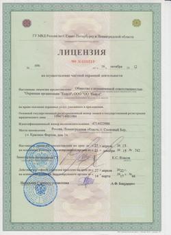 Лицензия ЧО № 035219