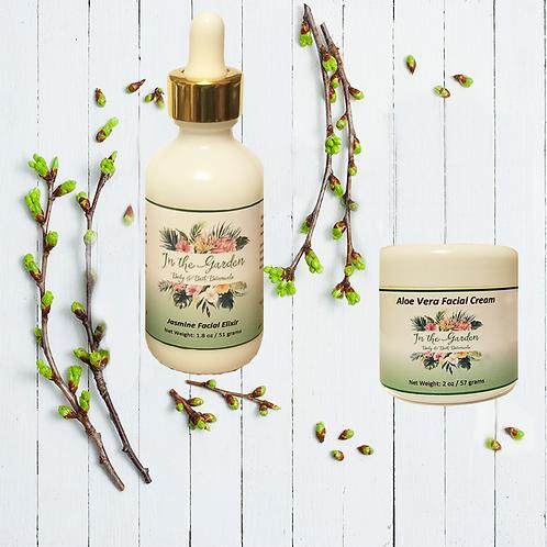 Aloe Vera Facial Cream & Jasmine Facial Elixir - 2 Set