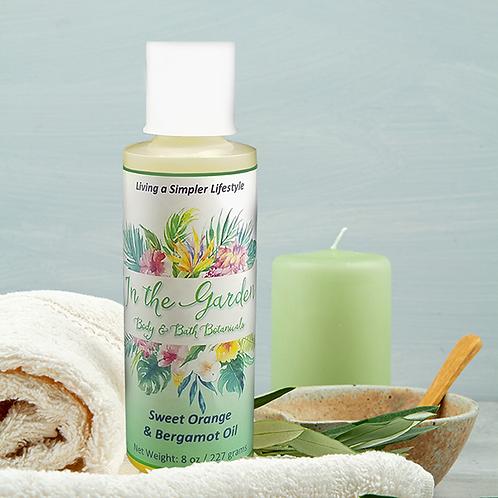 Sweet Orange & Bergamot Oil ~ Bath & Massage Oil 4 oz.