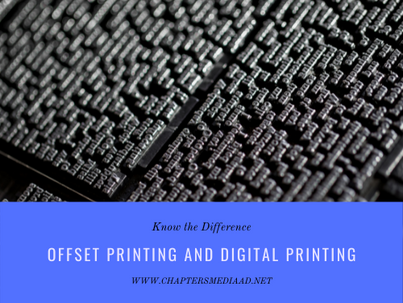 Differences Between Offset Printing and Digital Printing
