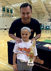 coach greg white with female camper