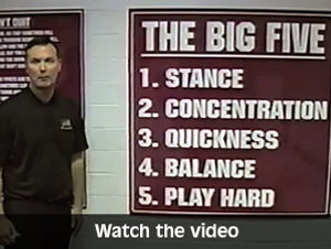 coach white's Big 5 clinic