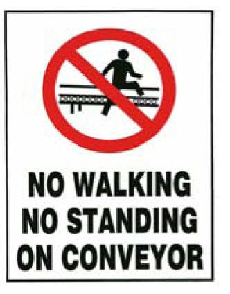 No Walking Sticker [20525-AM]