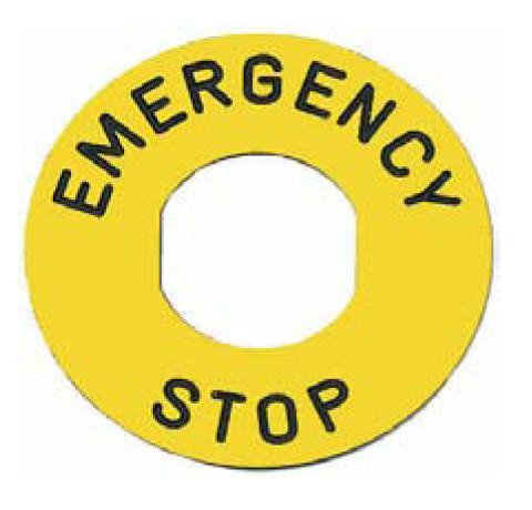 Emergency Stop Sticker [ZBY9330]