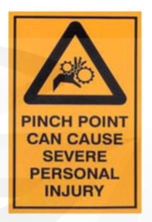Pinch Point Sticker [20528-AM]