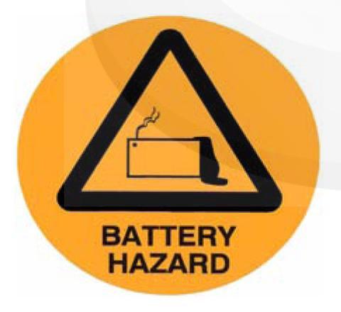 Battery Hazard Sticker [20531-AM]