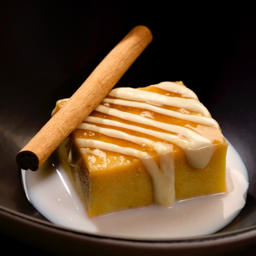 Pudding de fartons y horchata