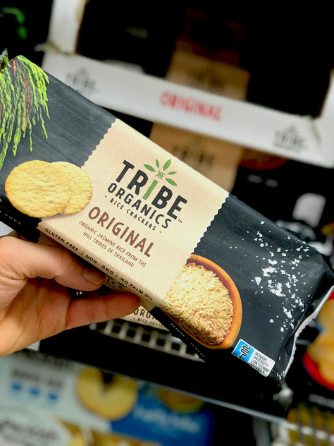"Low FODMAP New Launch: ""Tribe Organics"" Original flavour rice crackers"