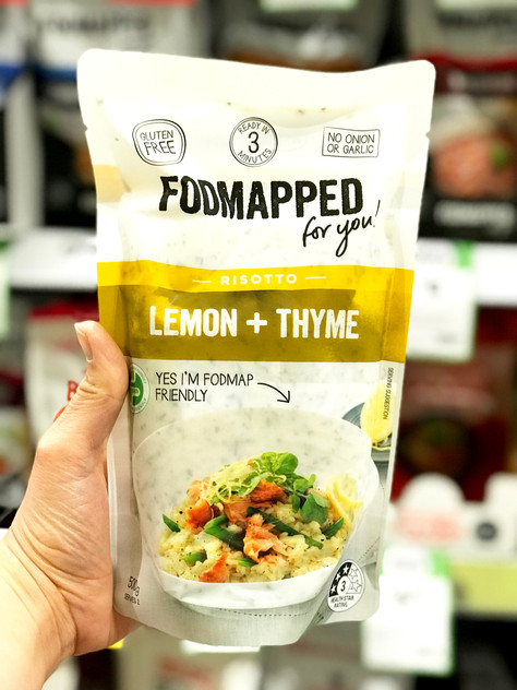 "Low FODMAP New Launch: ""FODMAPPED FOR YOU"" Lemon + Thyme Risotto"
