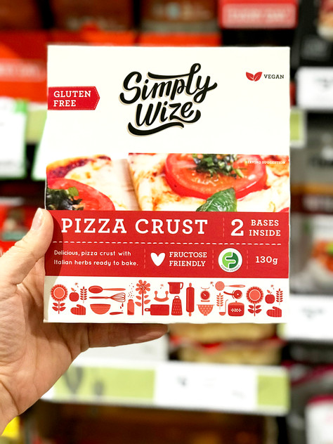 "Low FODMAP New Launch: ""Simply Wize"" Pizza Crust"