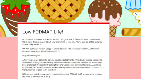 Your chance to shape the future of a new Low FODMAP product (and win a prize)