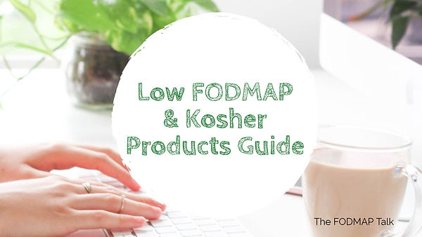The FODMAP Talk Low FODMAP Kosher Israel
