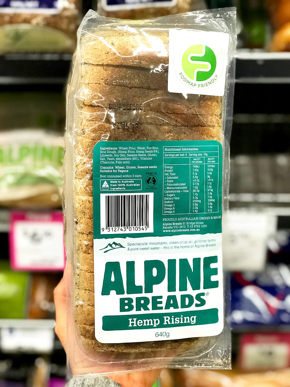 Low Fodmap New Launch Alpine Breads Hemp Rising Loaf