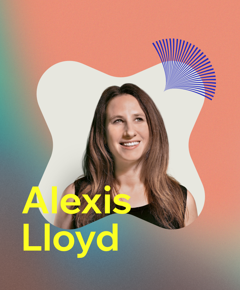Headshot of Now What? podcast guest, VP of product design at Medium Alexis Lloyd.