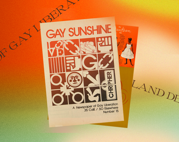 A cover of the 'Gay Sunshine' Newspaper no. 15. Oct.-Nov. 1972. Image courtesy The People's Graphic Design Archive.