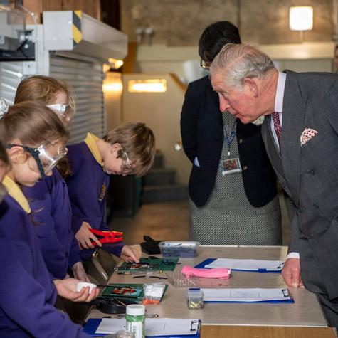 HRH Prince Charles visit