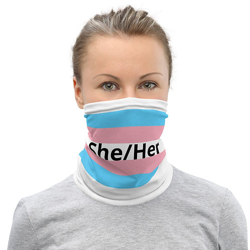 Trans Pride Face Mask - she/her