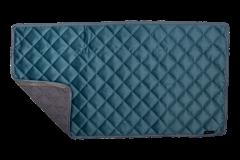 Velvet Decke petrol - Reißverschlusssystem