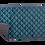 Thumbnail: Velvet Decke petrol - Reißverschlusssystem