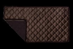 Velvet Decke braun - Reißverschlusssystem