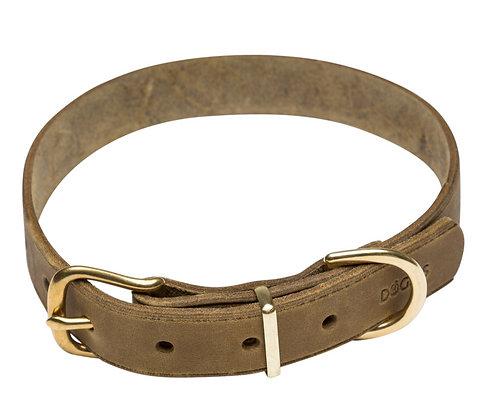 Lederhalsband Hermes - khaki