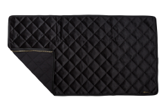 Velvet Decke schwarz - Reißverschlusssystem