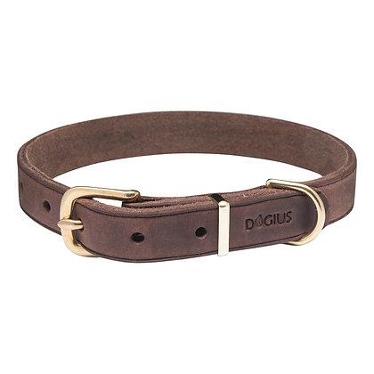 Lederhalsband Hermes - dunkelbraun