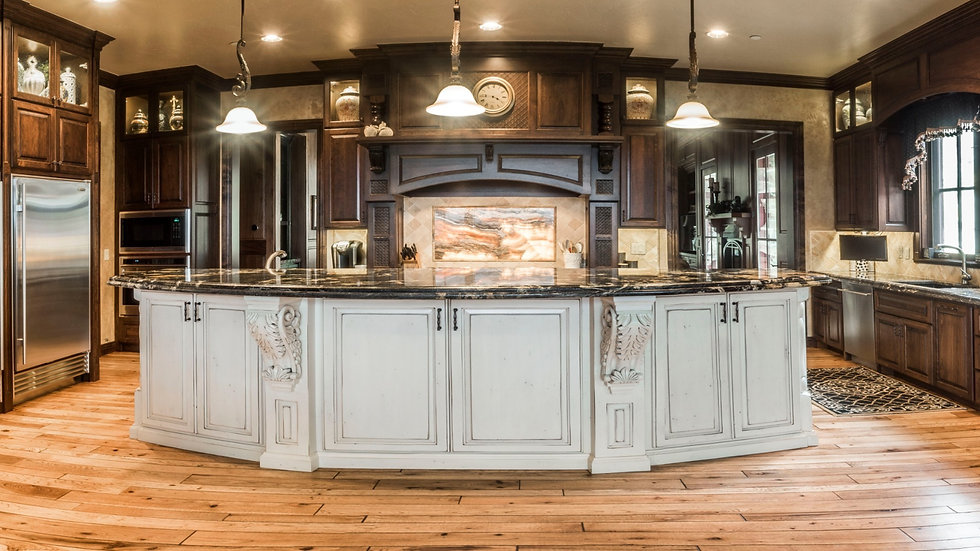 Kitchen cabinet remodel with onyx