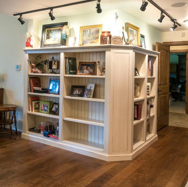 Wrap around bookcases