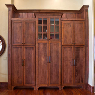 Custom cherry locker cabinet