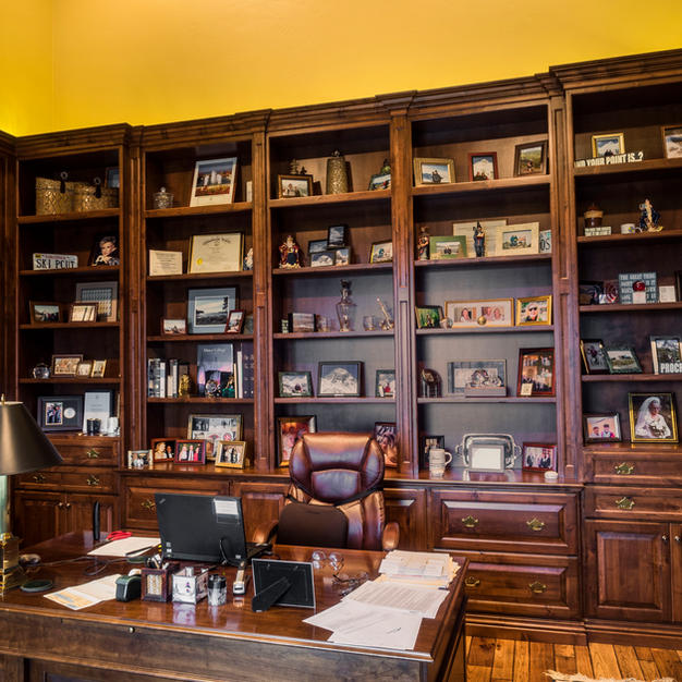 Office with Cherry raised pane