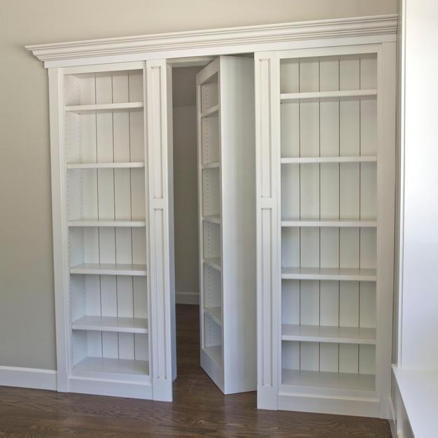 Hidden door bookcase-open
