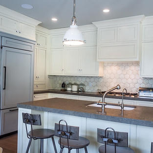 White Kitchen with Accents