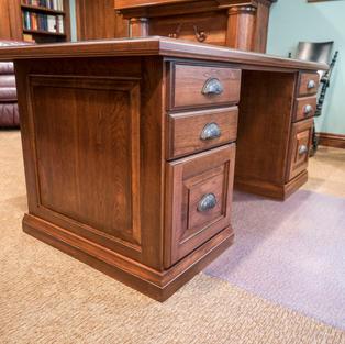 Custom desk sitting side
