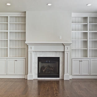 Built-in bookcases and Mantle