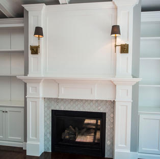 Mantle with Bookcases