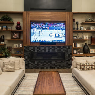 Contemporary Mantle in walnut