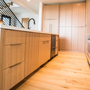 Contemporary Oak with grain matching