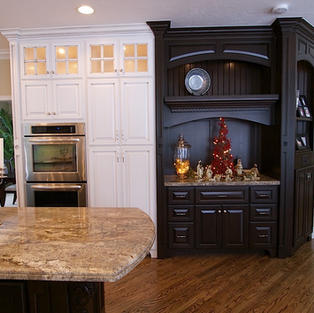 Two-tone painted kitchen