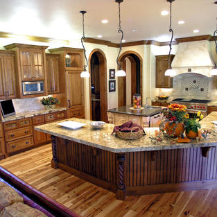 Cherry kitchen with large island