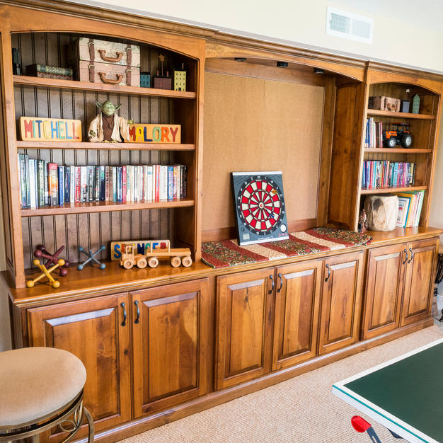 Game room bookcase