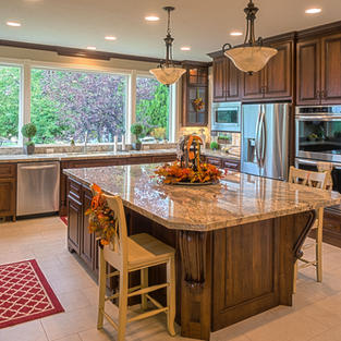 Beautiful, bright cherry kitchen