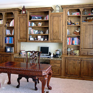 Alder study and bookcases