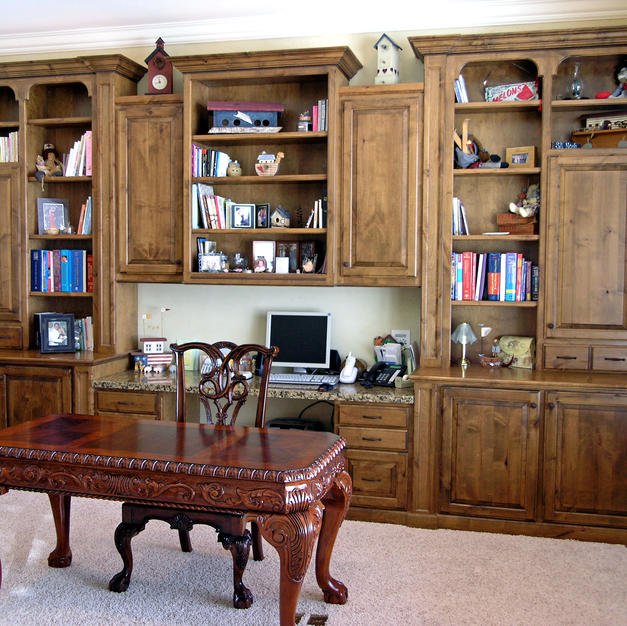 Alder study and bookcases
