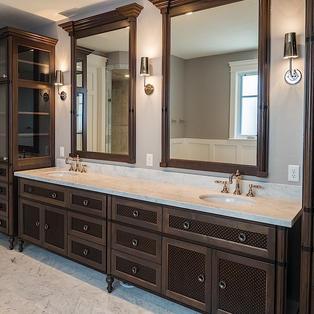 Walnut bathroom vanity