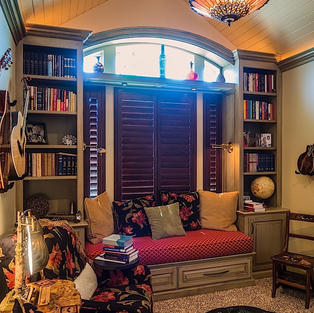 Cozy music and reading room