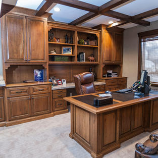 Bookcase and Desk in Cherry